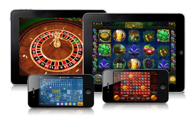 Mobile phone pokies